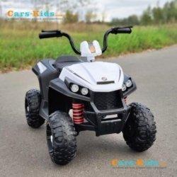 Электроквадроцикл T111TT белый (колеса резина, сиденье кожа, музыка, свет)